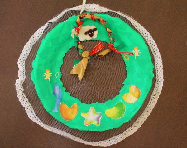 christmas-wreath-600x475 クリスマスに小学生が作ってみたい定番の工作5つ